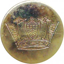 Barrow-In-Furness Corporation Transport 17.5mm Chrome-plated Transport uniform button