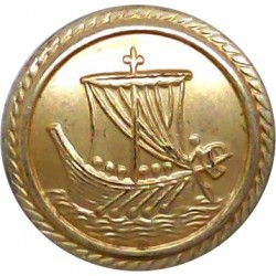 Merchant Navy Blazer Button 14mm Flat Indented  Gilt Merchant Navy or Shipping uniform button