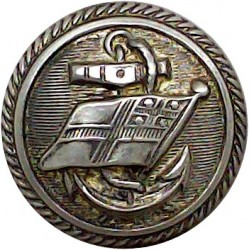 Barrow-In-Furness Corporation Transport 19.5mm - Gold Colour Anodised Transport uniform button