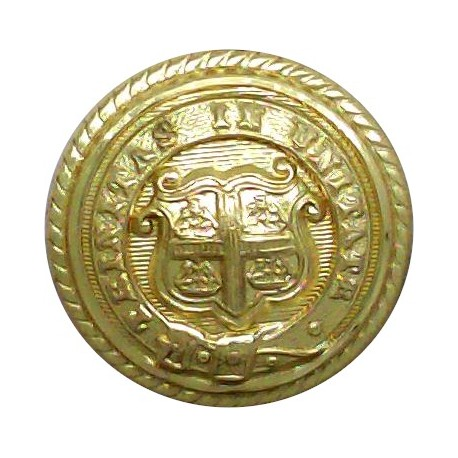 Post Office Telegraph Ships 17mm - Roped Rim with King's Crown. Gilt Merchant Navy or Shipping uniform button
