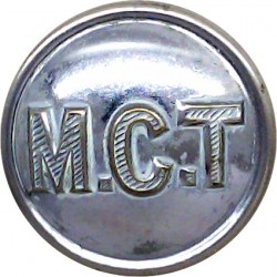 Huddersfield Tramways 16.5mm Chrome-plated Transport uniform button