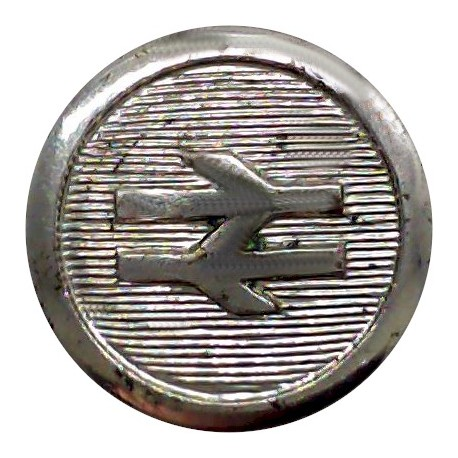 Pacific Steam Navigation Company - Shipping Button 17mm - 1902-1910 with King's Crown. White Metal Merchant Navy or Shipping uni