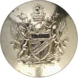 Royal Automobile Club (Old Type - Large Letter 'A') 26mm Queen's Crown. Chrome-plated Transport uniform button