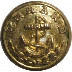 General Telegraphs 16.5mm - Roped Rim Gilt Merchant Navy or Shipping uniform button