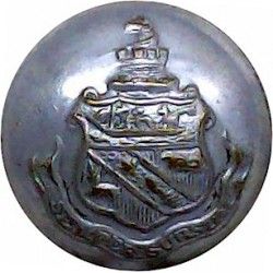 Detroit & Buffalo Line - Shipping Button - Plain Rim 22.5mm Chrome-plated Merchant Navy or Shipping uniform button