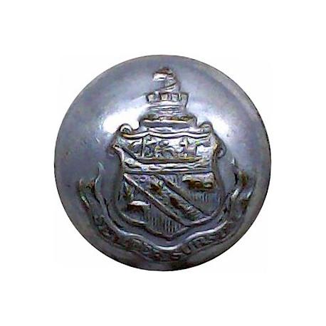 Detroit & Buffalo Line - Shipping Button - Plain Rim 22.5mm  Chrome-plated Merchant Navy or Shipping uniform button