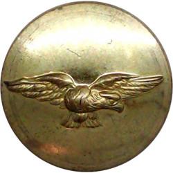 Civil Airline Button - Eagle Flying Right - No Rim 23.5mm  Gilt Transport uniform button