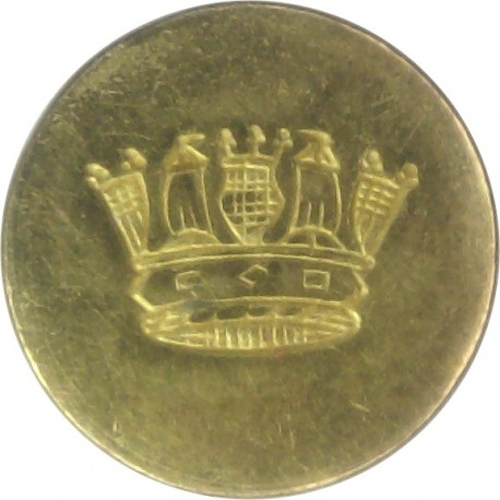 Clan Line (Cayzer Irvine & Co. Glasgow) - Roped Rim 16.5mm - Unlined Gilt Merchant Navy or Shipping uniform button