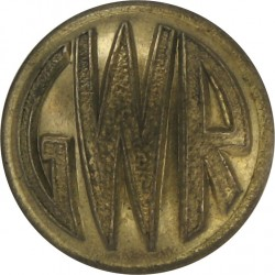 Kenya & Uganda Railways & Harbours - Roped Rim 16mm - 1929-1948 with King's Crown. Gilt Merchant Navy or Shipping uniform button