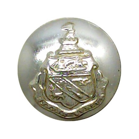 Royal Mail Lines - Shipping Button - Plain Rim 17.5mm with King's Crown. Chrome-plated Merchant Navy or Shipping uniform button