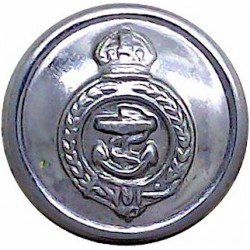 White Star Line - Shipping Button - Roped Rim 22mm Silver-plated Merchant Navy or Shipping uniform button