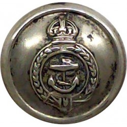 Royal Northern Yacht Club - Roped Rim 16mm Queen Victoria's Crown. Gilt Yacht or Boat Club jacket button