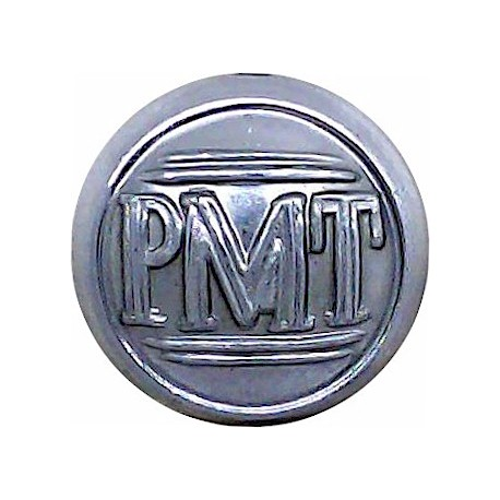 Potteries Motor Traction Company 17mm  Chrome-plated Transport uniform button