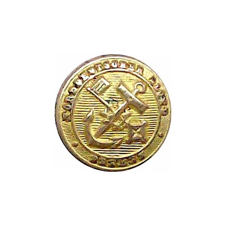 Yacht Club De France 17mm  Gilt Yacht or Boat Club jacket button