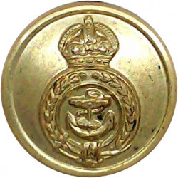 Norfolk & Suffolk Yacht Club - NSYC 24mm Queen Victoria's Crown. Gilt Yacht or Boat Club jacket button