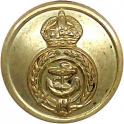 Norfolk & Suffolk Yacht Club - NSYC 24mm with Queen Victoria's Crown. Gilt Yacht or Boat Club jacket button