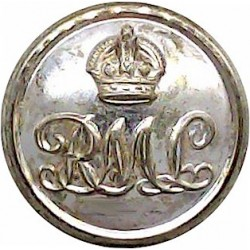 Royal Temple Yacht Club 17.5mm Queen Victoria's Crown. Gilt Yacht or Boat Club jacket button