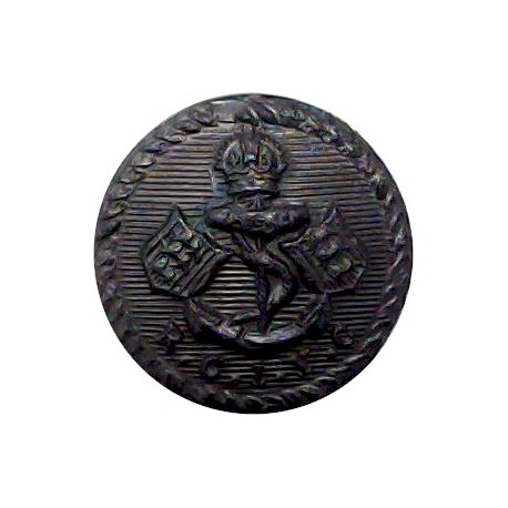 Bembridge Sailing Club (Isle Of Wight) 16.5mm - Black Horn Yacht or Boat Club jacket button