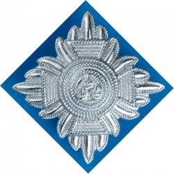 Inspector's Rank Star (pip) - Without Wording 25mm Side  Chrome-plated UK Police or Prison insignia