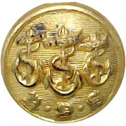 Royal Yacht Squadron 17mm  Gilt Yacht or Boat Club jacket button
