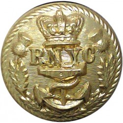 Royal Bermuda Yacht Club 17mm - Black with King's Crown. Plastic Yacht or Boat Club jacket button