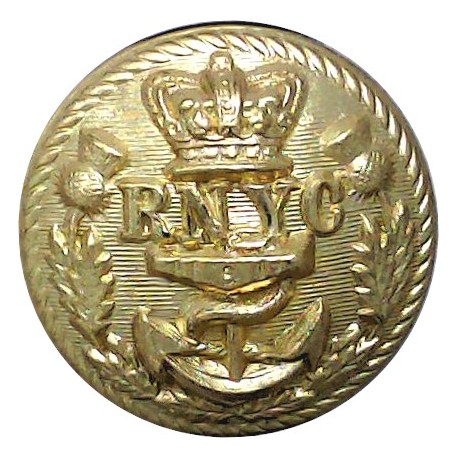 Royal Bermuda Yacht Club 17mm - Black King's Crown. Plastic Yacht or Boat Club jacket button