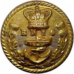 Royal Harwich Yacht Club 16mm Queen Victoria's Crown. Bronze Yacht or Boat Club jacket button