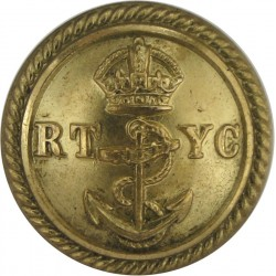 Royal Harwich Yacht Club 23mm Queen Victoria's Crown. Bronze Yacht or Boat Club jacket button