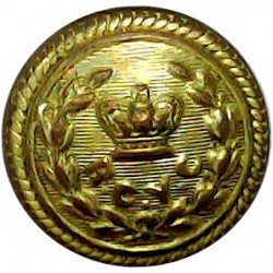 Royal Harwich Yacht Club 23mm Queen Victoria's Crown. Gilt Yacht or Boat Club jacket button