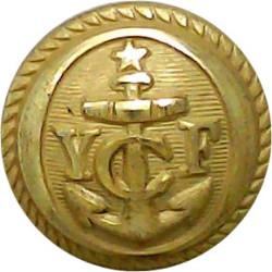 Royal Motor Yacht Club 23.5mm King's Crown. Gilt Yacht or Boat Club jacket button