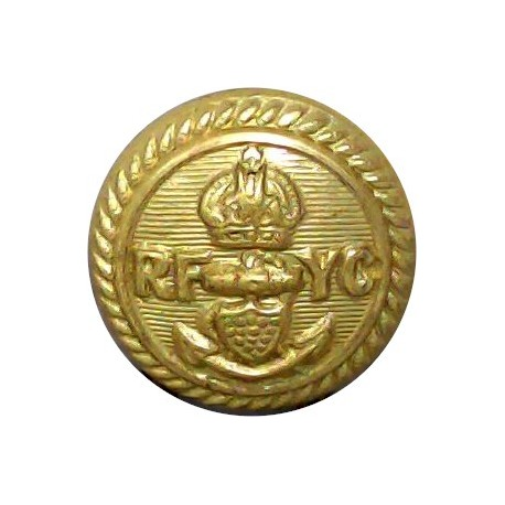 Royal Fowey Yacht Club 16mm with King's Crown. Gilt Yacht or Boat Club jacket button