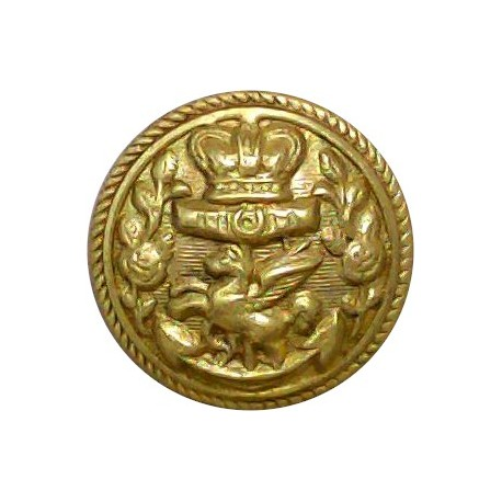 Royal Temple Yacht Club 17.5mm with Queen Victoria's Crown. Gilt Yacht or Boat Club jacket button
