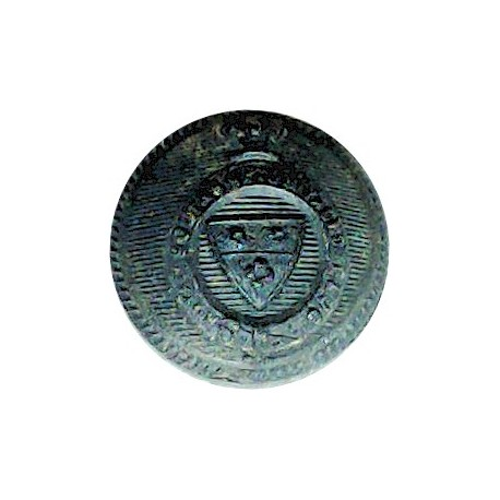 Royal Southampton Yacht Club - Roped Rim 15.5mm - Black with Queen Victoria's Crown. Horn Yacht or Boat Club jacket button