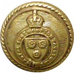 Royal Southampton Yacht Club - Roped Rim 16.5mm with King's Crown. Gilt Yacht or Boat Club jacket button