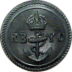 Royal Bermuda Yacht Club 23mm - Black with King's Crown. Plastic Yacht or Boat Club jacket button