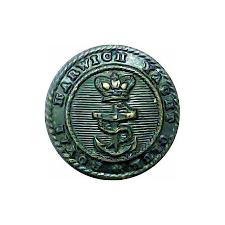 Royal Harwich Yacht Club 16mm with Queen Victoria's Crown. Bronze Yacht or Boat Club jacket button