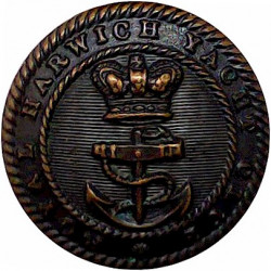 Royal Harwich Yacht Club 23mm with Queen Victoria's Crown. Bronze Yacht or Boat Club jacket button