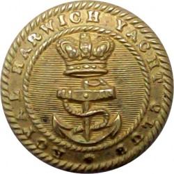 Royal Harwich Yacht Club 23mm with Queen Victoria's Crown. Gilt Yacht or Boat Club jacket button