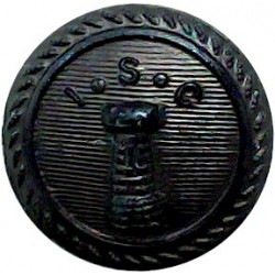 Island Sailing Club - Lined - Roped Rim 16.5mm - Black  Horn Yacht or Boat Club jacket button