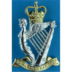 Royal Irish Rangers Belt Plate Badge Similar To Cap Badge with Queen Elizabeth's Crown. Anodised Stable Belt, belt-plate or buck