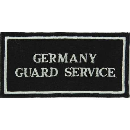 Germany / Guard Service - With Border Pullover Chest Badge  Embroidered UK Police or Prison insignia