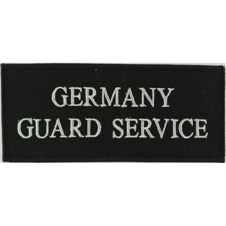 Germany / Guard Service - Without Border Pullover Chest Badge  Embroidered UK Police or Prison insignia