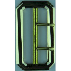 British Army FAD, No.2 & No.3 Dress Jacket Buckle 2-Prong - Gold  Anodised Stable Belt, belt-plate or buckle
