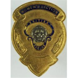 British Legion Women's Section Standard-Bearer's Cross-Belt Badge  Gilt and enamel Stable Belt, belt-plate or buckle