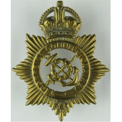 Corps Of Commissionaires Cross-Belt Badge with King's Crown. Brass Stable Belt, belt-plate or buckle