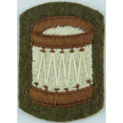 Drum (Drummer) - Small - No.2 Dress On Khaki  Embroidered Musician, piper, drummer or bugler insignia