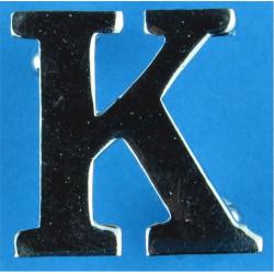 Police Shoulder / Collar Letter K   Chrome-plated UK Police or Prison insignia
