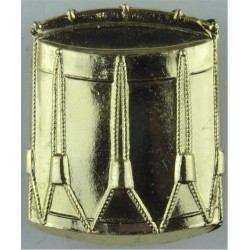 Drum (Drummer) Gold Colour  Anodised Musician, piper, drummer or bugler insignia
