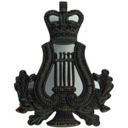 Lyre & Crown - Musician - Rifle Regiments/ Gurkhas Black with Queen Elizabeth's Crown. Brass Musician, piper, drummer or bugler