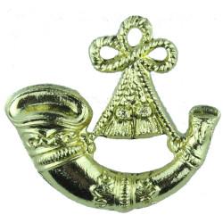 Bugle - Mouthpiece Right Gold Colour  Anodised Musician, piper, drummer or bugler insignia